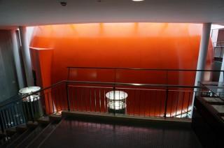 주황색 반구형 구조물 안이 바로 360도 플라네타리움 극장이다. - 도쿄=이우상 기자 idol@donga.com 제공